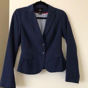 H&M blue slim fit blazer